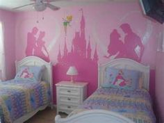 cute for a lil girls room, except take out Aurora and replace with Jasmine ;)