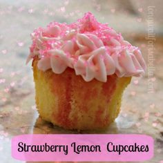 strawberry lemon cupcakes.
