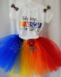 Nascar tutu Hand painted tee mini bows How Cute Racing Baby, Nascar Racing, Tony Stewart, Future Baby, Future Daughter, Race Day, Fast Cars, Bellisima, Girl Outfits