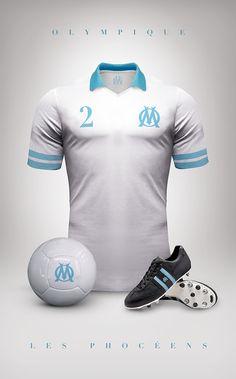 """Allez hop un point sport et plus particulièrement foot. Voici """"Vintage clubs"""" une serie de design de maillots des plus grands clubs du monde (rien que ça), dans le plus pur style vintage. Bravo à..."""