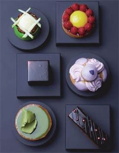 Modern patisserie display
