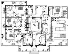 Floor Plans AFLFPW13992 - 1 Story Farmhouse Home with 4 Bedrooms, 3 Bathrooms and 3,388 total Square Feet YES!!! Just wish the master closets were bigger. Maybe close off the porch on that side and add it to the master?