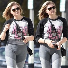 Photos and Videos Laura Marano, Chloe Grace Moretz, Celebrity Outfits, Sexy Outfits, Celebrity Women, Catsuit, Camelo, Girl Inspiration, Polka Dot Blouse