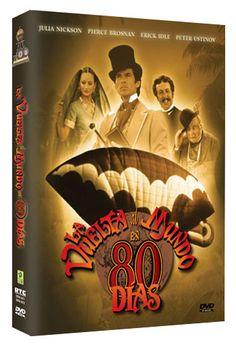Diseño publicitario de DVD's - Stop Diseño Gráfico - Diseño de La vuelta al mundo en 80 días - Harmony Gold.