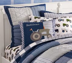Kash's Big Boy Room....Tractors!!! Sullivan Patch Quilted Bedding | Pottery Barn Kids