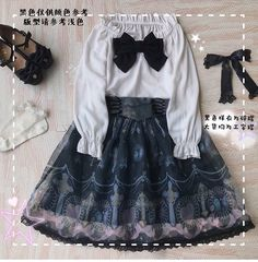 Angelcat -Jeweled Crosses- Gothic Lolita Skirt