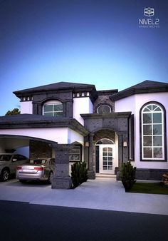 Declutter And Style And Design For Put Up-Spring Crack Homeschool Good Results Casas Elegantes Dream Home Design, Modern House Design, My Dream Home, Modern Home Exteriors, Modern Interior, Style At Home, Dream Mansion, Luxury Homes Dream Houses, Dream House Exterior