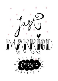 Kaartje Just married congrats! Wedding Shower Cards, Funny Wedding Cards, Wedding Humor, Just Married Quotes, Meaningful Friendship Quotes, Wedding Wishes Messages, Love Quotes For Wedding, Marriage Cards, Country Wedding Cakes
