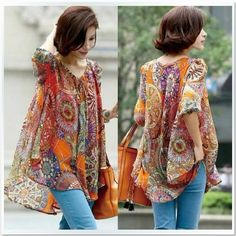 54c5ec921bc54f Aliexpress.com   Buy 2013 new Promotions hot trendy cozy women blouse  shirts Fashion Personalized the sexy printed color long sleeved chiffon shirt  from ...