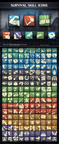 Survival Skill Icons - Miscellaneous Game Assets