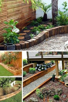 Brilliant & Cheap Garden Edging Ideas With Pictures For 2019 Landscape edging constructs the framework of your garden. Garden Edging may be pretty costly, and definitely so if you are going to employ bricks to edge your lawn. Garden Edging Ideas Cheap, Wood Garden Edging, Wood Landscape Edging, Lawn Edging, Wooden Garden, Patio Border Ideas, Cheap Backyard Ideas, Simple Garden Ideas, Wooded Backyard Landscape