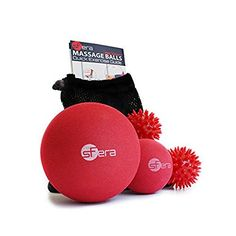 Foot Hand and Back Massage Balls (3 Pack) - Lacrosse and Spiky Ball Combo Pack for Therapeutic Deep Tissue, Trigger Point, Muscles, Acupressure & More with Bonus User Guide