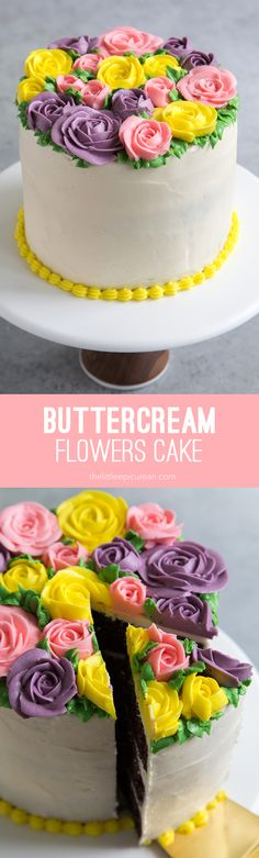 Buttercream Flowers Cake - make this for mother's day!
