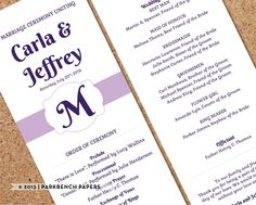 wedding program kelly green banner fan diy editable word template