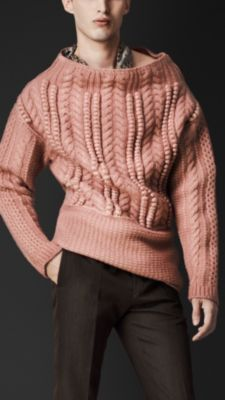 Burberry Oversize Aran Knit Sweater. Love this...but in another color.