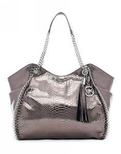 Michael Kors Handbags Sale Chelsea Large Shoulder Tote-Embossed