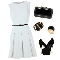 """""""Pleated Dress"""" by nmille50 on Polyvore  love all but ring and bracelet"""