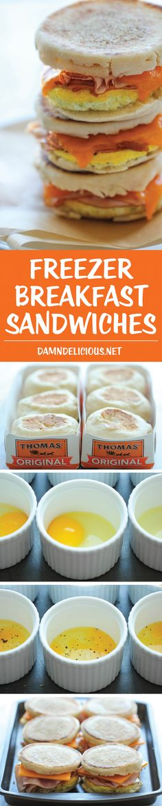 Freezer Breakfast Sandwiches - Easy, make-ahead freezer-friendly sandwiches…