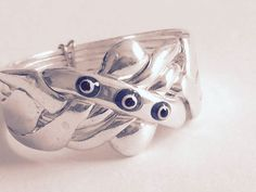 Sterling Silver 5 Band Turkish Evil Eye Puzzle Ring - Sizes 5 to 12 #Dimenticare #Band