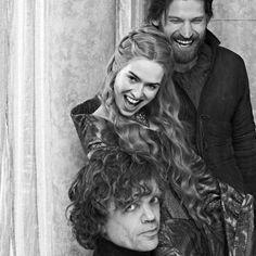 The Lannisters (Game of Thrones) Peter Dinklage as Tyrion, Lena Headey as Cersei, and Nikolaj Coster-Waldau as Jaime Arte Game Of Thrones, Game Of Thrones Fans, Hodor Game Of Thrones, Serie Got, Film Serie, Khal Drogo, Hip Hip, Isaac Hempstead-wright, Jon Snow