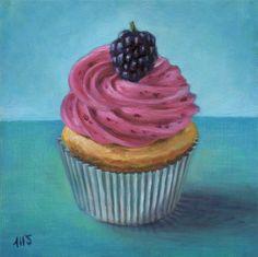 Marion Stephan - Cupcake 5, #marionstephanfineart, #cupcakepainting, #cupcake