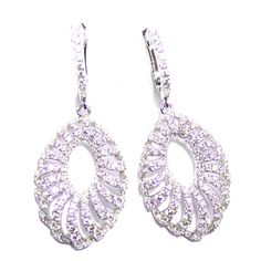 Silver with zirconia cod. SE31173A1 wheight :7.50 gram white cubic zirconia ( 202 piece)  rhodium plated