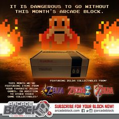 We're excited to see the first Arcade Block February 2015 box spoilers! Arcade Block is a monthly subscription box that delivers a mystery box of video game themed items to your door step. http://www.findsubscriptionboxes.com/a-closer-look/arcade-block-february-2015-box-spoiler/