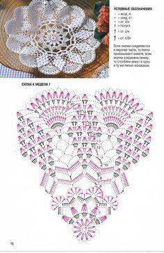 Picasa Web Albums beautiful diamond & fan crocheted doily in filet crochet.