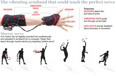 Vibrating sleeve could help teach Andy Murray's serve  Aspiring tennis players could soon learn how to deliver the perfect serve every time and even copy stars like Andy Murray with the help of a vibrating armband.