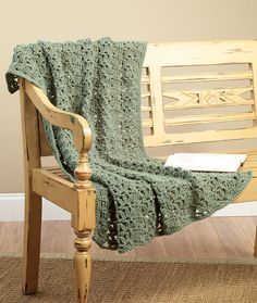 Crochet One Skein Throw-made 2014. Nice enough for what it is. What it is is a lap rug. Great size for your lap but too small to curl up under with a book. Not sure why I thought it would be bigger.