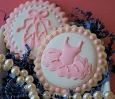 Ballet Shoes and Tutu Decorated Sugar Cookies by sweetgoosiegirl, $33.00