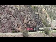 Canadian Pacific freight train action in the Thompson Canyon
