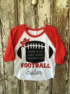 Hey, I found this really awesome Etsy listing at https://www.etsy.com/listing/233248143/football-sister                                                                                                                                                     More