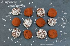 2-ingredient vegan chocolate truffles