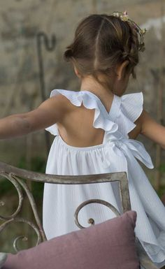 Ruffle criss cross strap sundress...dont have any little ones to dress, but this was too darn cute not to share!