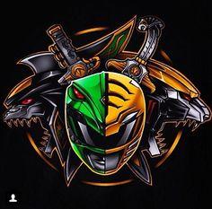 Green Ranger / White Ranger Art