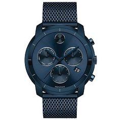 Relógio Movado Masculino Aço Azul - 3600403