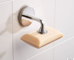 These Awesome Inventions Will Solve All Your Bathroom Woes ~ The Magnetic Soap Holder