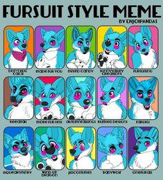Fursuit style meme