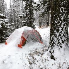 Woke up to a fresh 6 of snow Snow Camping, Winter Camping, Wake Up, Backpacking, Fresh, Adventure, Nature, Outdoor, Outdoors