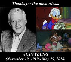 In Memory of Alan Young. Rest in Peace, Scrooge McDuck. Disney Cartoon Characters, Cartoon Tv, Disney Cartoons, Cartoon Drawings, Cartoon Quotes, Classic Comics, Classic Cartoons, Retro Cartoons, Old Disney Tv Shows