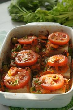 poisson au four à la marocaine Oven Dishes, Fish Dishes, Dinner Recipes For Kids, Healthy Dinner Recipes, Fish Recipes, Seafood Recipes, Baked Fish, International Recipes, Food Inspiration