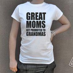 Grandma tshirt Best Moms Get Promoted to Grandma Mother's Day Gift GrandmA Birthday Funny grandma T-Shirt Shirt Grandparent. Grandma gift. by Crafteri on Etsy