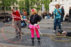 I came upon a group of talented artists and jugglers at Dam Square in Amsterdam. I spent about an hour with them and had a great time.