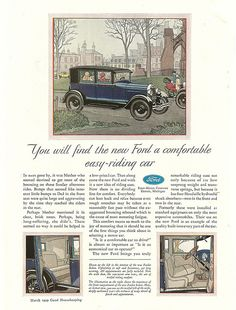1929 Model A Ford Fordor Sedan Ad by Boats-n-Cars, via Flickr