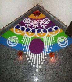 Corner Rangoli Designs for Diwali