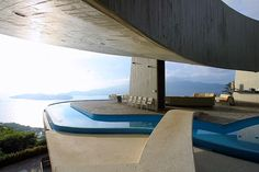 The Jeronimo Arango House or Casa Marbrisa, in Acapulco, Mexico which wad built in 1973 and designed by John Lautner.