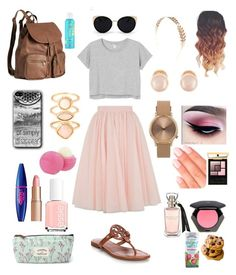 """""""Pretty in Pink! """" by mayyoung on Polyvore featuring Ted Baker, Monki, Tory Burch, H&M, Una-Home, Wet Seal, Kenneth Jay Lane, Monsoon, Topshop and Charlotte Tilbury"""