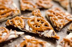 Salted Caramel & Pretzel Chocolate Bark is an easy no-bake sweet & salty snack to add to your next party dessert table!