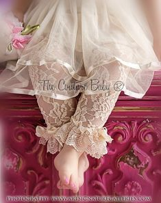 Lace Ruffle Tights from The Couture Baby